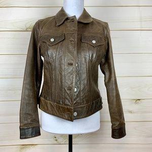 GAP classic leather jacket vintage